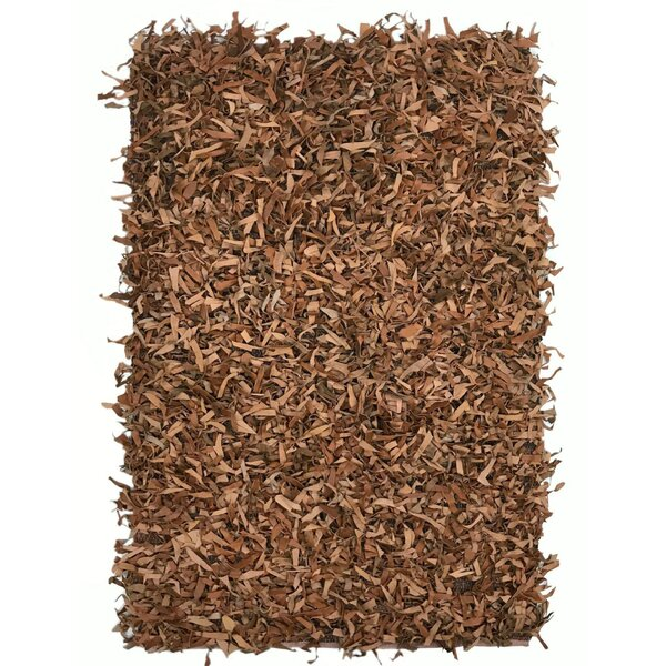 Grigg Hand-Knotted Brown Area Rug by Ebern Designs