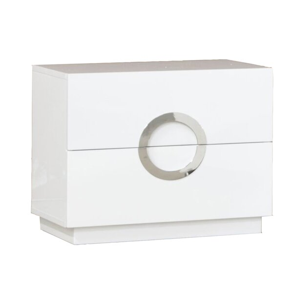 Austin 2 Drawer Nightstand by Wade Logan