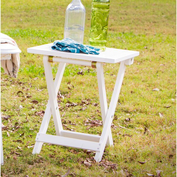 Joseline Solid Wood Side Table by Highland Dunes