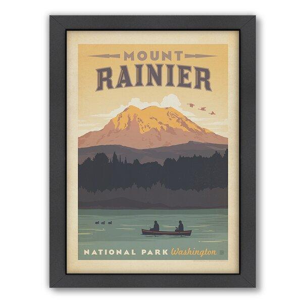 National Park Mount Rainier Framed Vintage Advertisement by East Urban Home