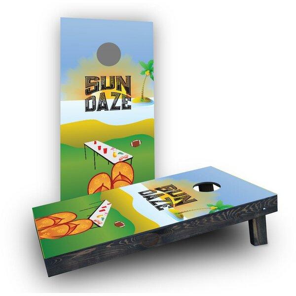 Sun Daze Cornhole Boards (Set of 2) by Custom Cornhole Boards