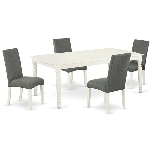 Judi 5 Piece Extendable Solid Wood Dining Set by Alcott Hill Alcott Hill