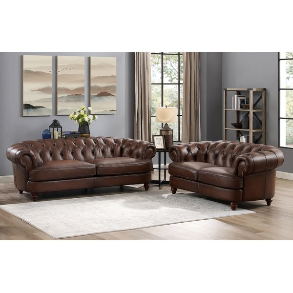 Top Quality Basso 2 Piece Leather Living Room Set by Alcott Hill by Alcott Hill