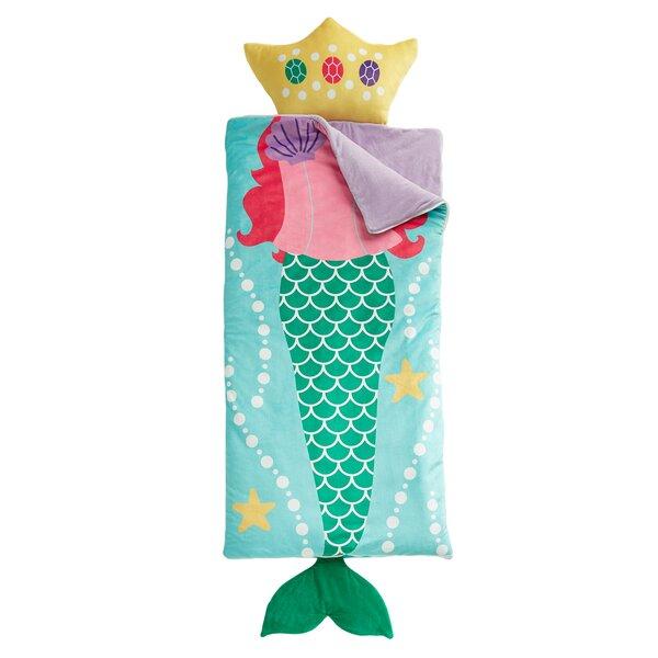 Emme Mermaid Dreams Slumber Bag by Zoomie Kids