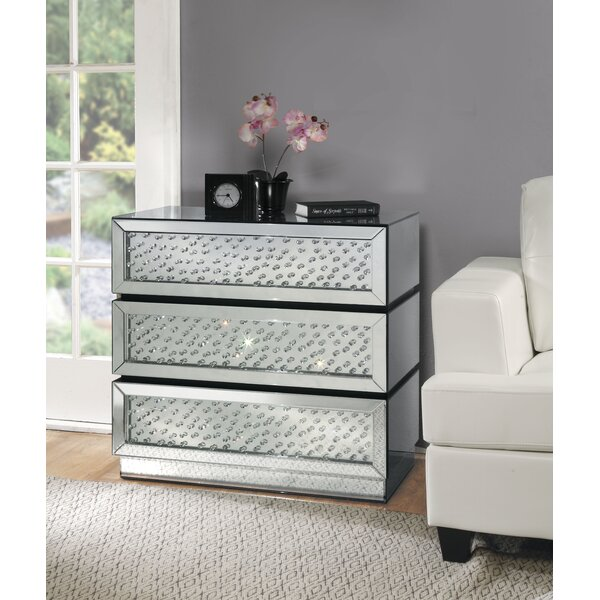 Choe 3 Drawer Accent Chest by Everly Quinn Everly Quinn