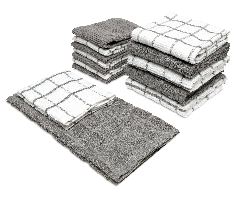 Canora Grey 14 Piece Checker Box Kitchen Towel Set & Reviews ...