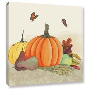 Harvest Pumpkin II Painting Print on Wrapped Canvas by August Grove