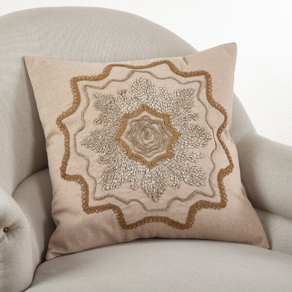Adelaide Cotton Throw Pillow by Saro