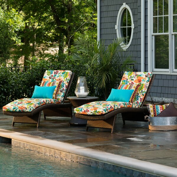 Guadaloue Indoor/Outdoor Chaise Lounge Cushion by Bay Isle Home