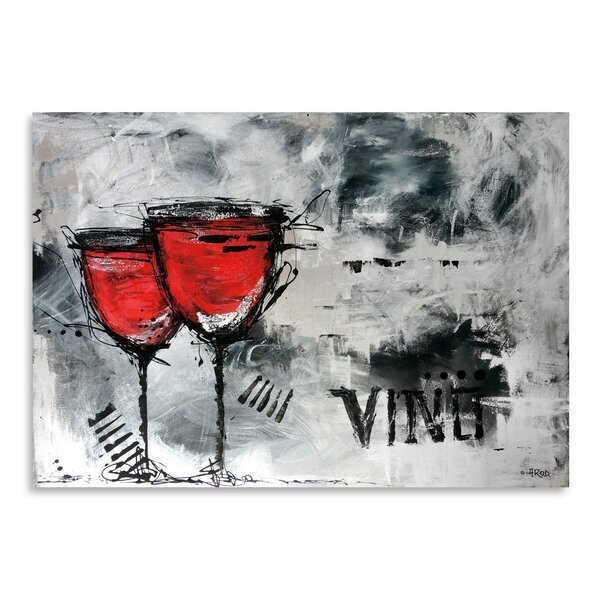 Vino 8 Painting Print by East Urban Home