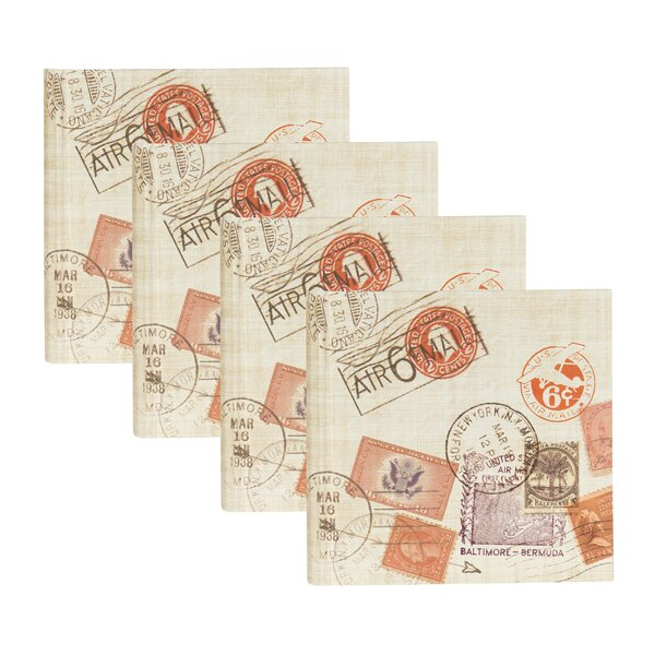 Passport Stamps Travel Pocket Photo Album (Set of 4) by Red Barrel Studio