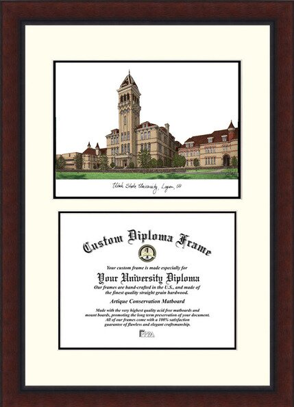 NCAA Utah State University Legacy Scholar Diploma Picture Frame by Campus Images