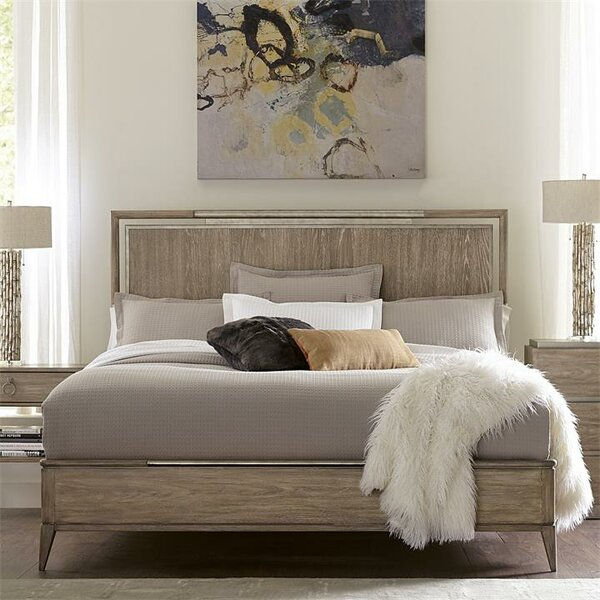 Almazan Upholstered Panel Bed by One Allium Way
