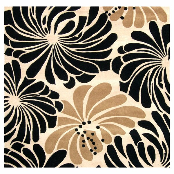 Norwood Hand-Tufted Beige/Black Area Rug by The Conestoga Trading Co.