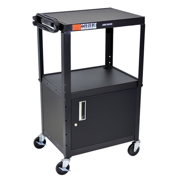Adjustable Height Steel AV/Computer Cart by Offex