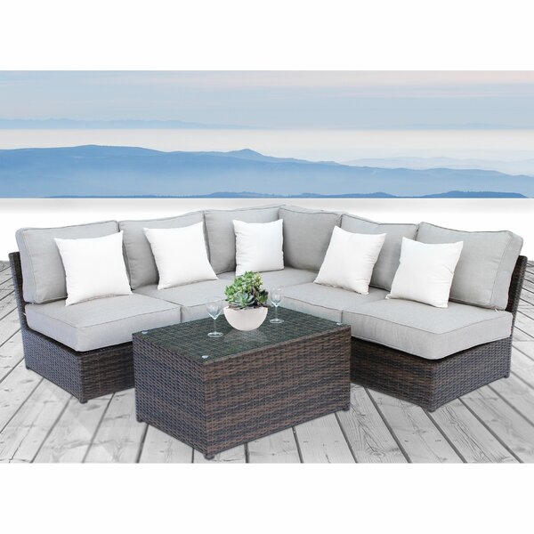 Winsford 6 Piece Sectional Set with Cushions by Rosecliff Heights Rosecliff Heights