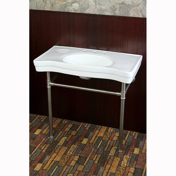 Duchess Metal 34 Console Bathroom Sink by Kingston Brass