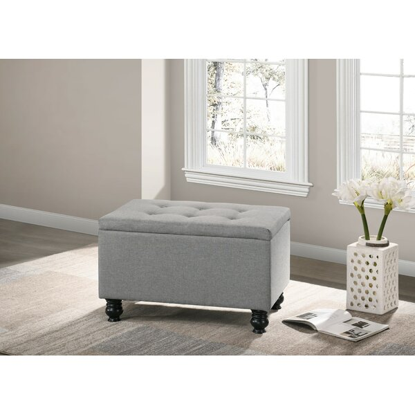 Brill Upholstered Flip Top Storage Bench