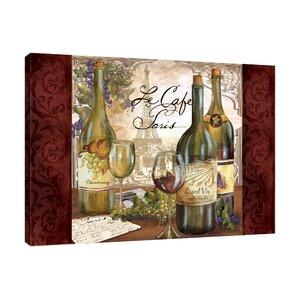 'Le Café Paris Wine' Graphic Art Print on Wrapped Canvas by Fleur De Lis Living