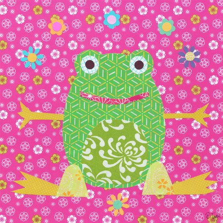Floral Frog Canvas Art by Oopsy Daisy