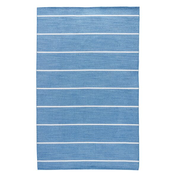 Swans Island Dark Denim Stripe Area Rug by Breakwater Bay