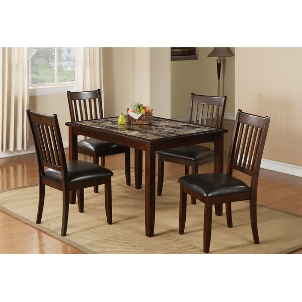 Harvest Moon 5 Piece Solid Wood Dining Set by Red Barrel Studio