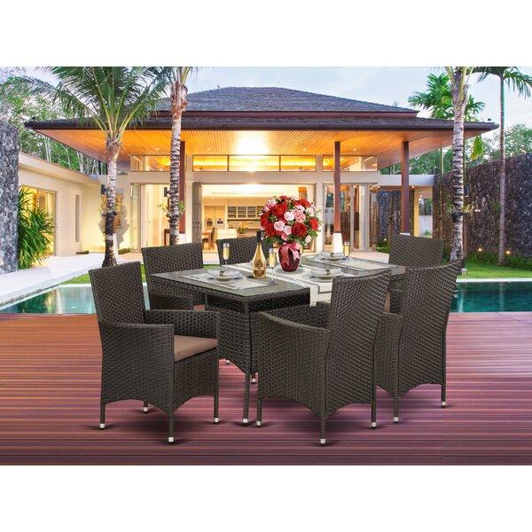 Axl Backyard 7 Piece Dining Set with Cushions by Brayden Studio