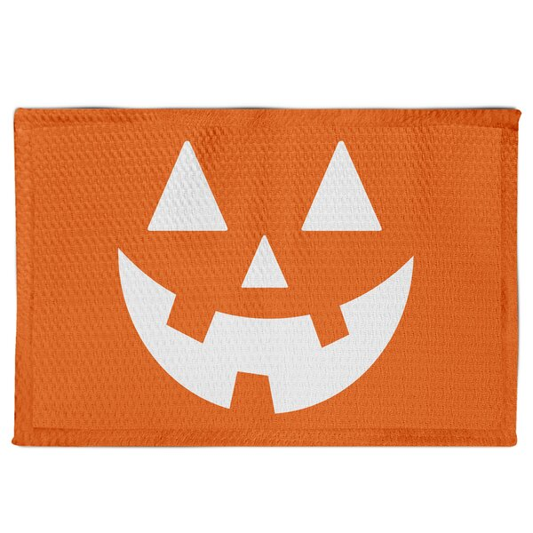 Maxen Jack-O Face Orange Area Rug by The Holiday A