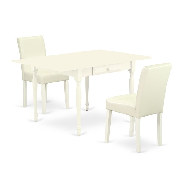 Verlene Drop Leaf Solid Wood Dining Set by Ophelia & Co. Ophelia & Co.