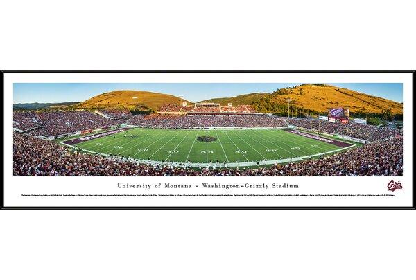 NCAA Montana, University of by Robert Pettit Framed Photographic Print by Blakeway Worldwide Panoramas, Inc