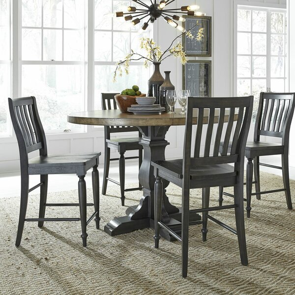 Nazareth 5 Piece Counter Height Dining Set by Alcott Hill