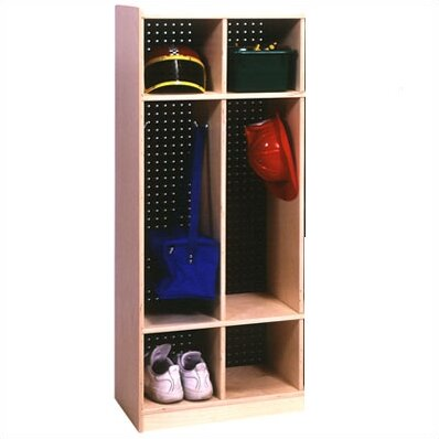 3 Tier 2 Wide Coat Locker by Angeles