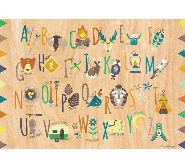 Tiny Totem Alphabet by Modern Whimsy Art Placemat by GreenBox Art