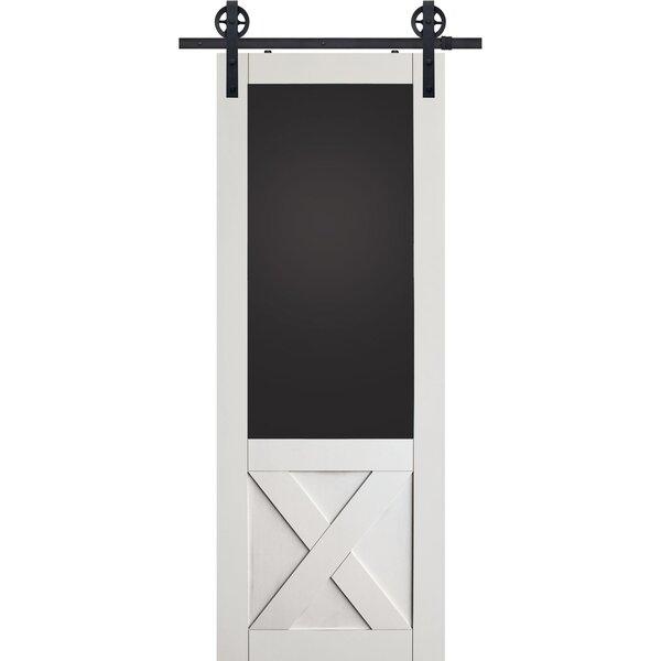 X Blackboard MDF Panel Interior Barn Door by Barndoorz