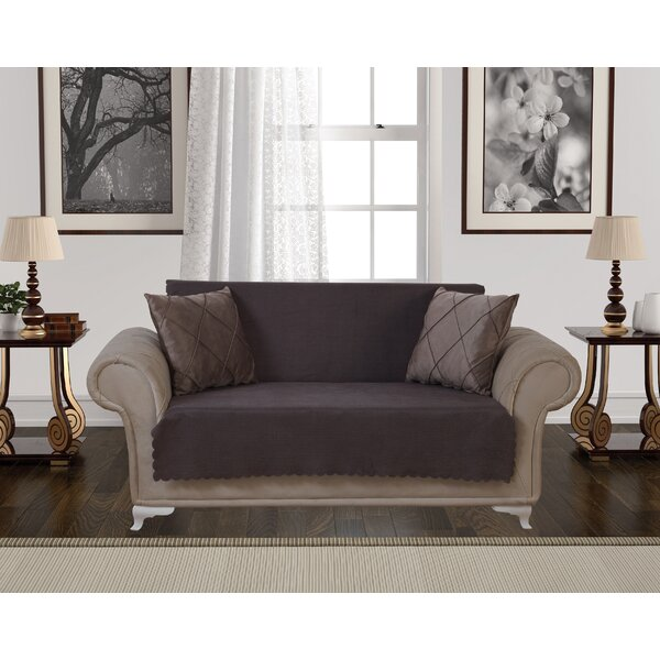 Diamond Anti-Slip Pet Furniture Protector Box T-Cushion Loveseat Slipcover by August Grove