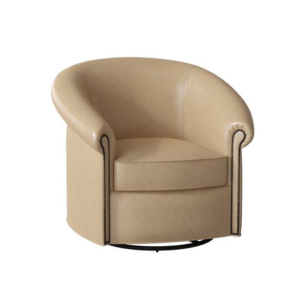 Stellan Leather Swivel Chair By Bradington-Young