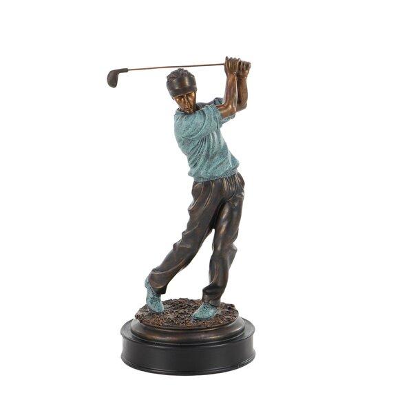 Latisha Modern Swinging Golf Player Figurine by Red Barrel Studio