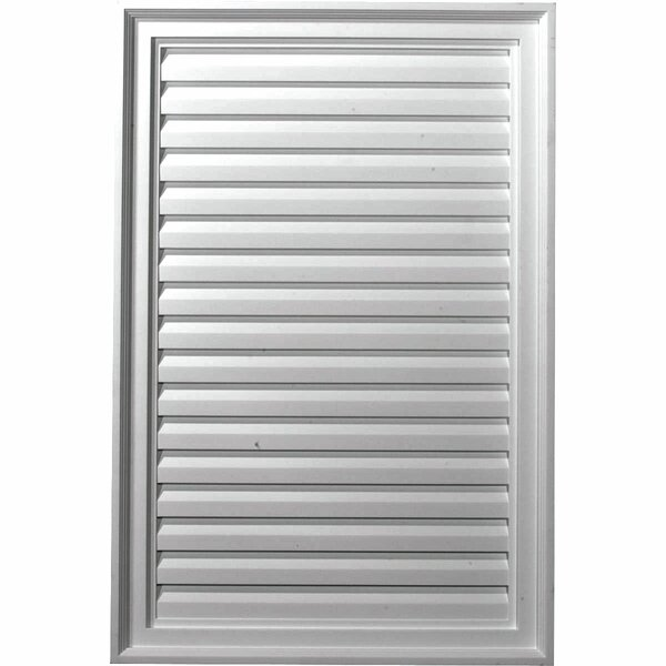 36H x 24W Vertical Gable Vent Louver by Ekena Millwork