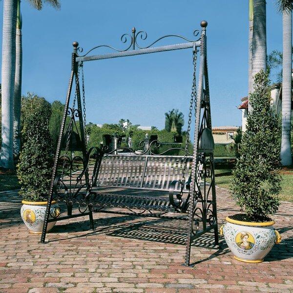 Rockaway Garden Porch Swing with Stand by Design Toscano Design Toscano