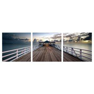 Brisbane Pier Wall Mounted Triptych 3 Piece Photographic Print Set by Ebern Designs