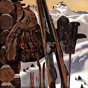 Ski Equipment Still Life by John Atherton Painting Print on Wrapped Canvas by Marmont Hill