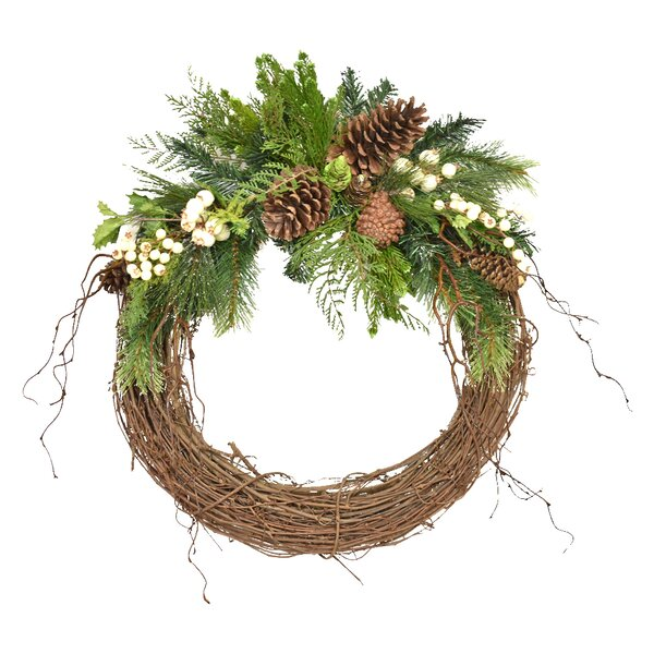 27 Pine and Berry Wreath by The Holiday Aisle