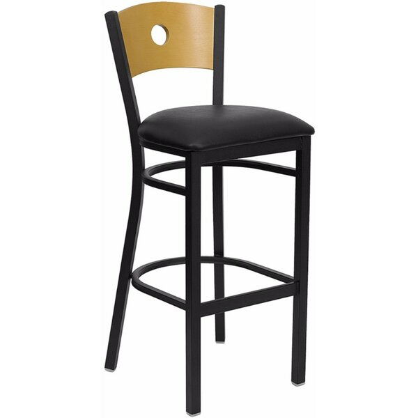 Dryden 32 Bar Stool with Cushion by Red Barrel Studio