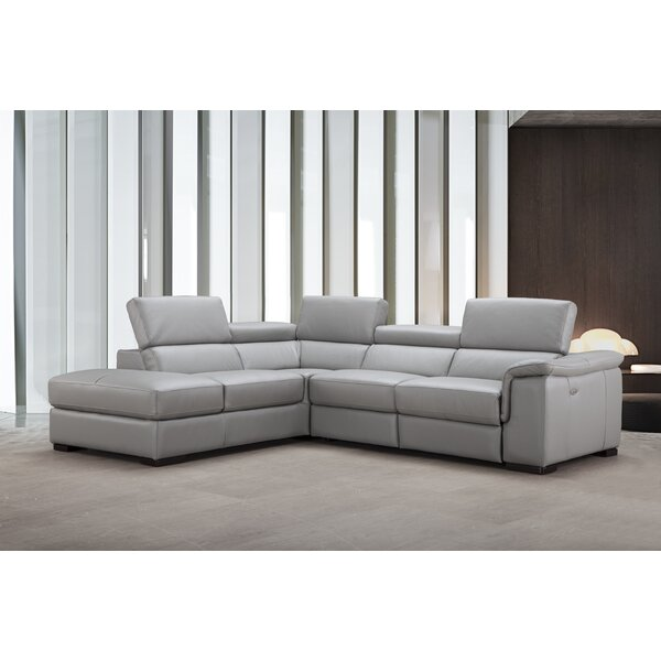 #1 Cropsey Leather Reclining Sectional By Brayden Studio Find