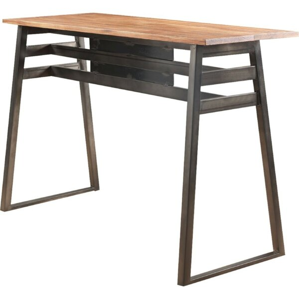 Esther Industrial Rectangular Wooden Pub Table by 17 Stories