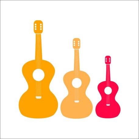 Three Guitars Canvas Art by Oopsy Daisy