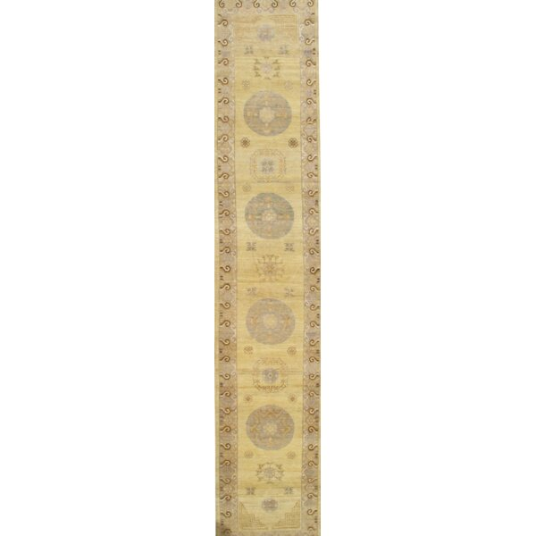 Khotan Hand-Knotted Wool Gold Area Rug by Pasargad NY