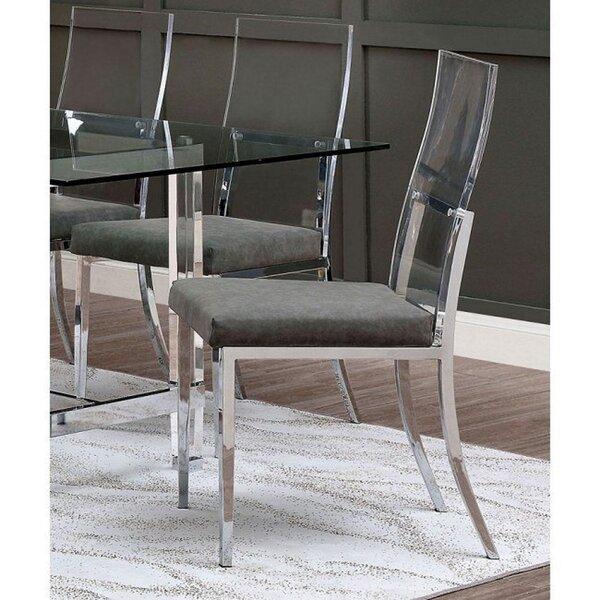 Talip Upholstered Metal Side Chair In Gray (Set Of 2) By Orren Ellis