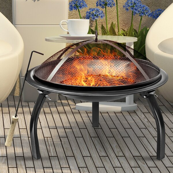 Steel Charcoal Fire Pit by Sorbus