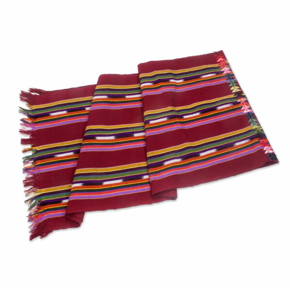 Paths to Chichicastenango Hand Woven Table Runner by Novica